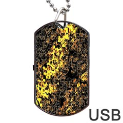 The Background Wallpaper Gold Dog Tag Usb Flash (two Sides)