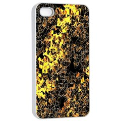 The Background Wallpaper Gold Apple Iphone 4/4s Seamless Case (white)