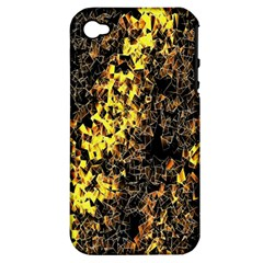 The Background Wallpaper Gold Apple Iphone 4/4s Hardshell Case (pc+silicone)