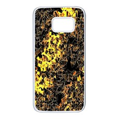 The Background Wallpaper Gold Samsung Galaxy S7 White Seamless Case