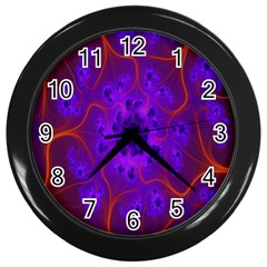 Fractal Mandelbrot Julia Lot Wall Clocks (black)