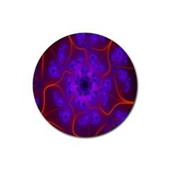 Fractal Mandelbrot Julia Lot Rubber Coaster (round)