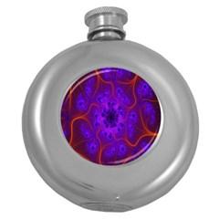 Fractal Mandelbrot Julia Lot Round Hip Flask (5 Oz)