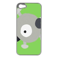 Magnemite (blue) Apple Iphone 5 Case (silver)