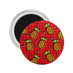 Fruit Pineapple Red Yellow Green 2 25  Magnets