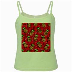 Fruit Pineapple Red Yellow Green Green Spaghetti Tank