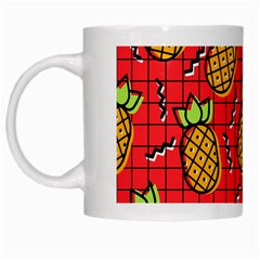 Fruit Pineapple Red Yellow Green White Mugs