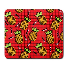 Fruit Pineapple Red Yellow Green Large Mousepads