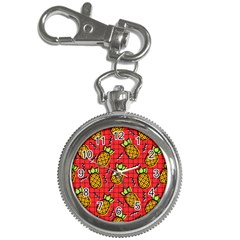 Fruit Pineapple Red Yellow Green Key Chain Watches