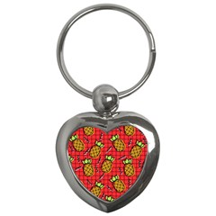Fruit Pineapple Red Yellow Green Key Chains (heart)