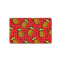 Fruit Pineapple Red Yellow Green Magnet (name Card)