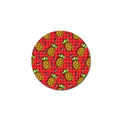 Fruit Pineapple Red Yellow Green Golf Ball Marker