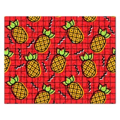 Fruit Pineapple Red Yellow Green Rectangular Jigsaw Puzzl