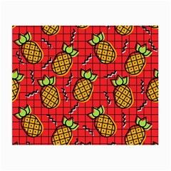 Fruit Pineapple Red Yellow Green Small Glasses Cloth