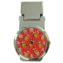 Fruit Pineapple Red Yellow Green Money Clip Watches
