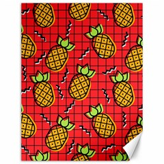 Fruit Pineapple Red Yellow Green Canvas 12  X 16