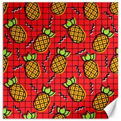 Fruit Pineapple Red Yellow Green Canvas 16  X 16