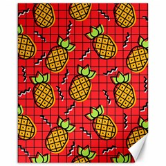 Fruit Pineapple Red Yellow Green Canvas 16  X 20