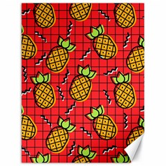 Fruit Pineapple Red Yellow Green Canvas 18  X 24