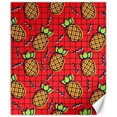 Fruit Pineapple Red Yellow Green Canvas 20  X 24