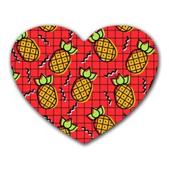Fruit Pineapple Red Yellow Green Heart Mousepads