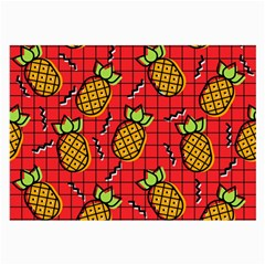 Fruit Pineapple Red Yellow Green Large Glasses Cloth