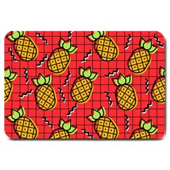 Fruit Pineapple Red Yellow Green Large Doormat