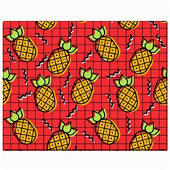 Fruit Pineapple Red Yellow Green Canvas 11  X 14