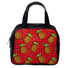 Fruit Pineapple Red Yellow Green Classic Handbags (one Side)