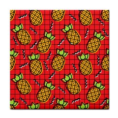 Fruit Pineapple Red Yellow Green Face Towel