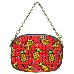 Fruit Pineapple Red Yellow Green Chain Purses (two Sides)