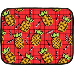 Fruit Pineapple Red Yellow Green Double Sided Fleece Blanket (mini)