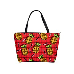 Fruit Pineapple Red Yellow Green Shoulder Handbags