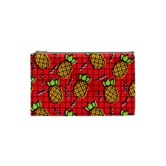 Fruit Pineapple Red Yellow Green Cosmetic Bag (small)