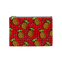 Fruit Pineapple Red Yellow Green Cosmetic Bag (medium)