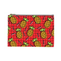 Fruit Pineapple Red Yellow Green Cosmetic Bag (large)