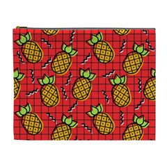 Fruit Pineapple Red Yellow Green Cosmetic Bag (xl)
