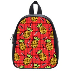 Fruit Pineapple Red Yellow Green School Bag (small)