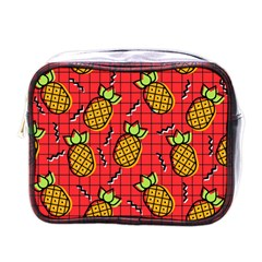 Fruit Pineapple Red Yellow Green Mini Toiletries Bags
