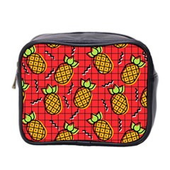 Fruit Pineapple Red Yellow Green Mini Toiletries Bag 2 Side