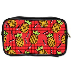 Fruit Pineapple Red Yellow Green Toiletries Bags 2 Side