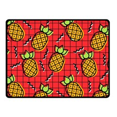 Fruit Pineapple Red Yellow Green Fleece Blanket (small)