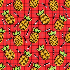 Fruit Pineapple Red Yellow Green Magic Photo Cubes