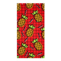 Fruit Pineapple Red Yellow Green Shower Curtain 36  X 72  (stall)