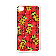 Fruit Pineapple Red Yellow Green Apple Iphone 4 Case (white)