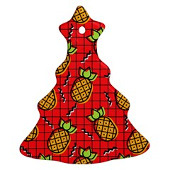 Fruit Pineapple Red Yellow Green Ornament (christmas Tree)