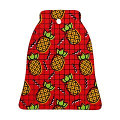 Fruit Pineapple Red Yellow Green Ornament (bell)