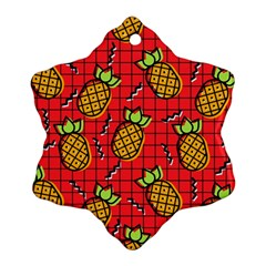Fruit Pineapple Red Yellow Green Snowflake Ornament (two Sides)