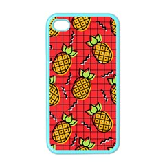 Fruit Pineapple Red Yellow Green Apple Iphone 4 Case (color)