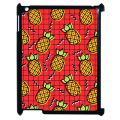 Fruit Pineapple Red Yellow Green Apple Ipad 2 Case (black)